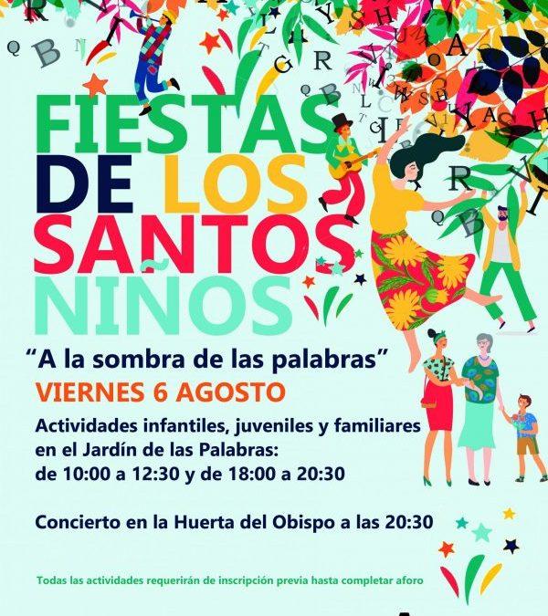 Las fiestas de los Santos Niños llenarán de actividades lúdicas el Jardín de las Palabras